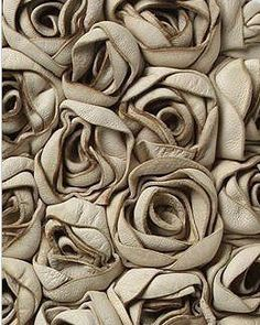 Neutral, roses made from leather, beautiful cover for journal