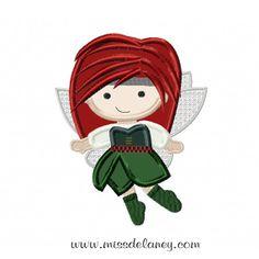 Zarina Pixie Hollow Embroidery Applique Design by MissDelaneyShop, $5.00