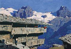 walde alfons - Google-Suche Grafik Design, Bergen, Contemporary Art, Journey, Europe, Mountains, Landscape, Oil Paintings, Drawings