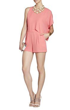 e280628e505f Ambrose Asymmetrical Pleated Romper | BCBG | share... - Vethebox.com dresses