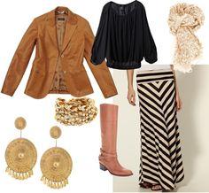Chevron Skirt love it all but jacket