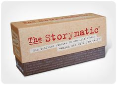 The Storymatic A game that gets the creative juices flowing. Follow the directions on the cards and your imagination does the rest. Play alone or in groups. Great for writers, kids, teachers, artists, and speakers. Use Storymatic to warm up for improv, pass the time on road trips, overcome writer's block, or to host an unforgettable game night.