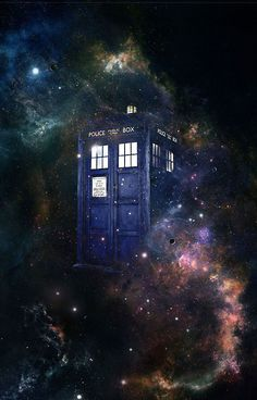 This is a fantastic picture of the one and only acceptable time machine space ship. The TARDIS!