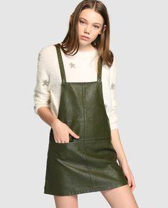 Pichi de mujer Easy Wear en color kaki de polipiel