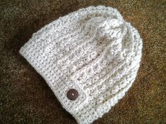 Rustic Slouch Hat in Natural by CuddleinCrochet on Etsy