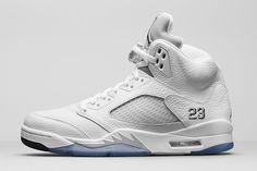 Air Jordan 5 - White/Metallic