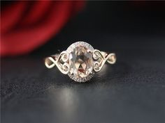 Morganite Ring Setting can be also made with 18K Gold.  Morganite Ring has about 0.17ct diamonds(SI in Clarity and H in color) in setting.  Item info: Morganite stone Shape: Oval Cut Measurement: 6x8mm Clarity: VS  Material: 14/18k, yellow/white/rose solid gold  Size: 3.5-8 (Larger and smaller sizes are available. Priced upon request)  Procedure for making this item: Please select material and your size at the drop down menu on the right side of the listing. Contact us if you h...
