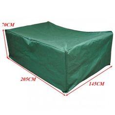 Buy UV Rain Protective Wicker Rattan Garden Furniture Cover Green 205x145x70cm |Homcom