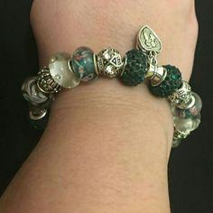 European style bracelet European style bracelet handmade with murano glass beads and charms Jewelry Bracelets