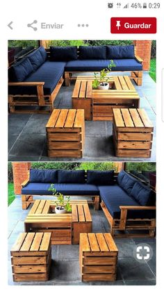 15 Wonderful DIY Pallet Furniture Outdoor That Look Awesome Pallet outdoor furniture ideas The post 15 Wonderful DIY Pallet Furniture Outdoor That Look Awesome appeared first on Lori& Decoration Lab. Pallet Garden Furniture, Outdoor Furniture Plans, Furniture Projects, Garden Pallet, Furniture Stores, Furniture From Pallets, Outdoor Palette Furniture, Pallet Furniture For Outside, Pallet Furniture Cushions
