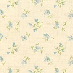 ORDERED  Blue Flowers Wallpaper