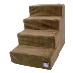 Majestic Pet Products 4 Step Chocolate Suede Pet Stairs By Majestic Pet Products