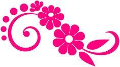 Flower Design Die Cut Decal, stickers for gals decals, girls stickers, female decal stickers, window stickers, window decals, car decals