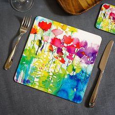 Butterflies Watercolour Placemat - what's new