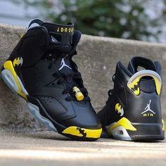 Air Jordan 6 Retro Batman Black and Yellow #style #fashion #nike #shopping #sneakers #shoes #basketballshoes #airjordan
