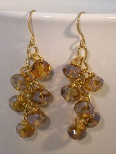 Everything is $20 or LESS!  Topaz Dangle Earrings by SimplyAccessorize on Etsy, $16.00