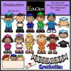 Graduation Clip Art Bundle from Educlips on TeachersNotebook.com -  (34 pages)  - Graduation Clip Art Bundle