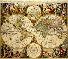 Mappemonde geo hydrographique du globe | mappe monde geo hydrographique g valck size 48 x 56