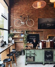 Two loft cafe, netherlands 👥 tag a friend 👇 shop barista tools 👉 link in Rustic Coffee Shop, Vintage Coffee Shops, My Coffee Shop, Vintage Shops, Cafe Restaurant, Restaurant Design, Vintage Restaurant, Modern Restaurant, Modern Cafe