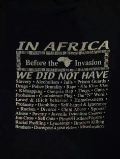 BLACK HISTORY - ALL YEAR LONG - AROUND THE WORLD - We are a global people!