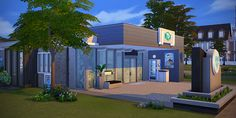 Sims 4 - Clinique du Chien Bleu I wanted to build my own small clinic to test this new career. So here it is, and as some of you may need one to, I share it with you. Once again created for my personal use, it's a really simple build ! I tested it with Maeve Barnes (I moved their house in Brindleton Bay), the cat of my roommates family Surimi (the poor one), and Cthulhu the coward dog from the Barrière family. Info : 30x20 lot, Vet Clinic Download the tray files : SimFileShare...