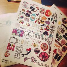 Our customer's sets. #stickers #tumblr
