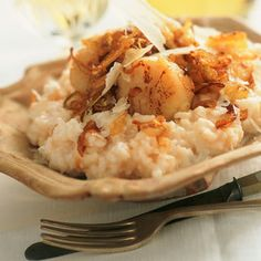 Scallop Risotto - Recipes- Risotto aux Saint-Jacques – Recettes Risotto with scallops - Seafood Recipes, Gourmet Recipes, Cooking Recipes, Healthy Recipes, Fruit Recipes, Couscous, Paella, Quinoa, Crack Crackers