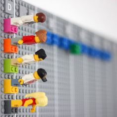 "Lego calendar by Vitamins. ""The Lego calendar is a wall mounted time planner that we invented for our studio. It's made entirely of Lego.."""