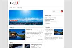 Leaf is a free WordPress Theme by Fatboy Themes