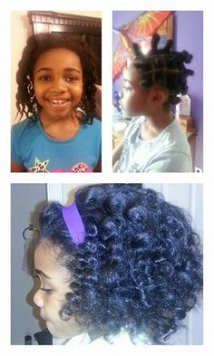 so cute bantu knot out for lil girls.