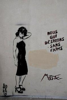 Paris 13e La butte aux Cailles. Street art de Miss-Tic. Photo d'Ixos.