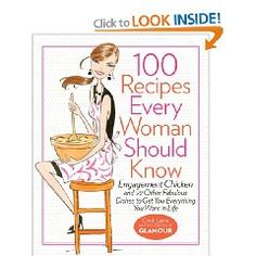 100 Recipes Every Woman Should Know.Very popular and fun recipes that include: Engagement Chicken, He Stayed Over Omelet, Prove to Mom You're Not Going to Starve Meat Loaf and many more fun recipes!