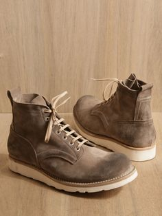 Nonnative hiking boots.