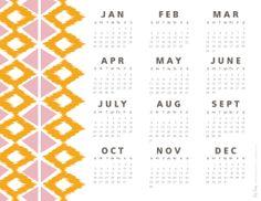 FREE printable 2014 calendar / RS Tribal Calendar