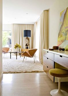 Mid century style bedroom inspiration