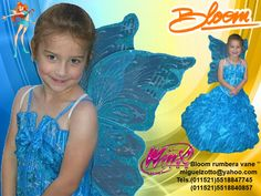 Bloom Winx Club Fairy pixie butterfly handmade for childs toddler adult girl blue presentation 3 years dress national glitz pageant contests, carnival, disguise dressup costume cosplay disguise performer play party formal cheap quinceanera quince prompt cupcake ball gown for sale miguelzottoyahoo.com Bloom winx club Hada hadita vestido azul disfraz mariposa hermoso propio graduacion kinder presentacion de 3 años,