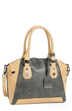 POVERTY FLATS by rian 'Geo Maude' Faux Leather Satchel | Nordstrom
