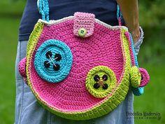 Botones bolso de ganchillo crochet patrón DIY por VendulkaM