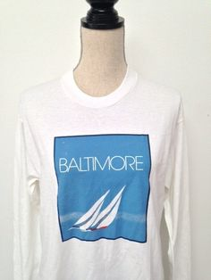 Vintage Baltimore Long sleeve Tshirt by 21Vintage on Etsy, $20.00