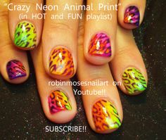 Nail-art by Robin Moses NEON raver girl  http://www.youtube.com/watch?v=6VDvOkqx0L4