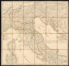 Carta postale e stradale dell'Italia; Rar K 300 Old Maps, Photos, Geography, Italia, Old Cards, Cake Smash Pictures