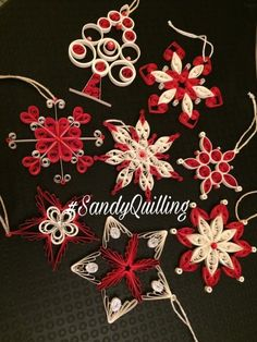 Origami And Quilling, Quilling Paper Craft, Quilling Patterns, Quilling Cards, Quilling Designs, Paper Quilling, Paper Crafts, Diy Christmas Ornaments, Holiday Crafts