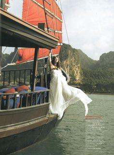 ELLE MARIAGE JAPAN – SEPTEMBER 2011 #bride #wedding #albertaferretti #editorial #magazine #fashion #white #dress #elle