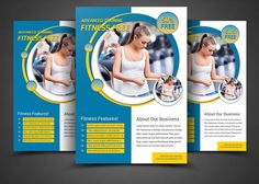 Fitness / Gym Flyer Templates by AfzaalGraphics on @creativemarket