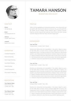 Reference Page Resume Template Unique Resume Template  Professional Resume  Modern Resume  Creative .