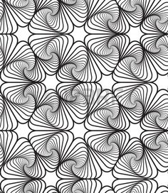 Black and White Op Art Design, Vector Seamless Pattern Background, Lines Only.
