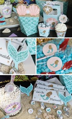 Let's Be Mermiads - Little Mermaid Girl Party Ideas BigDotOfHappiness.com