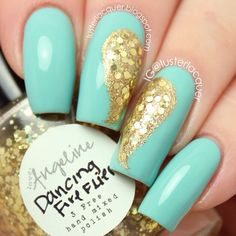 angel wing nails ♥