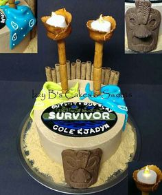 Survivor themed cake