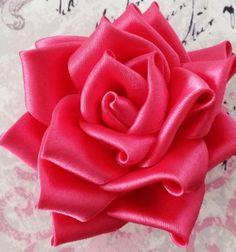 DIY kanzashi satin ribbon roses  / Selyem szalag rózsák kanzashi technikával / Mindy -  creative craft ideas